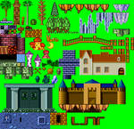 Wonder Boy III: Monster Lair Tileset