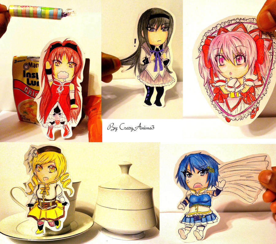 Madoka Magica Paper Childs by CrazyAnime3