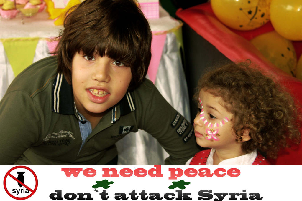 our children want to play Don`t attack syria by dimajaber