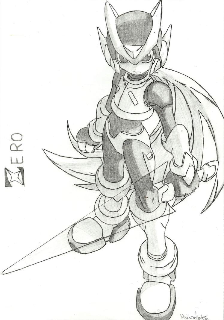 Line Art Zero : Megaman zero by superdevildash on deviantart