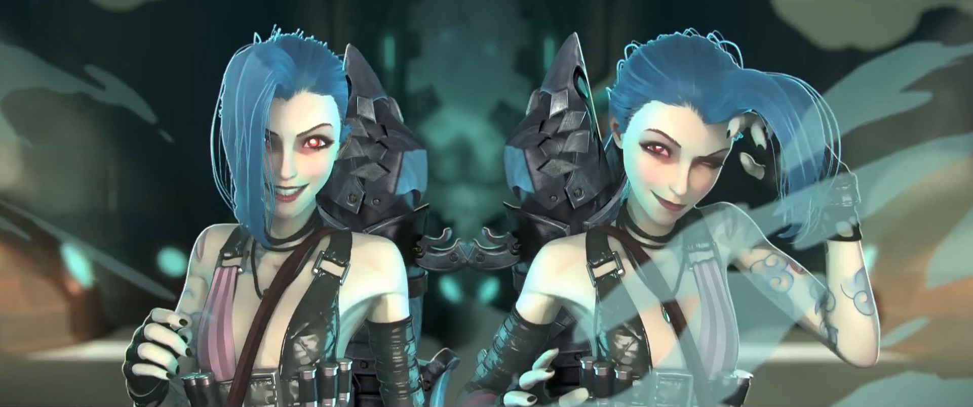 Jinx Lol Cover Banner Wallpaper Background By Astriakrystal On