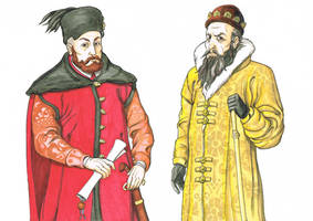 Stephen Bathory and Ivan the Terrible by Beneke