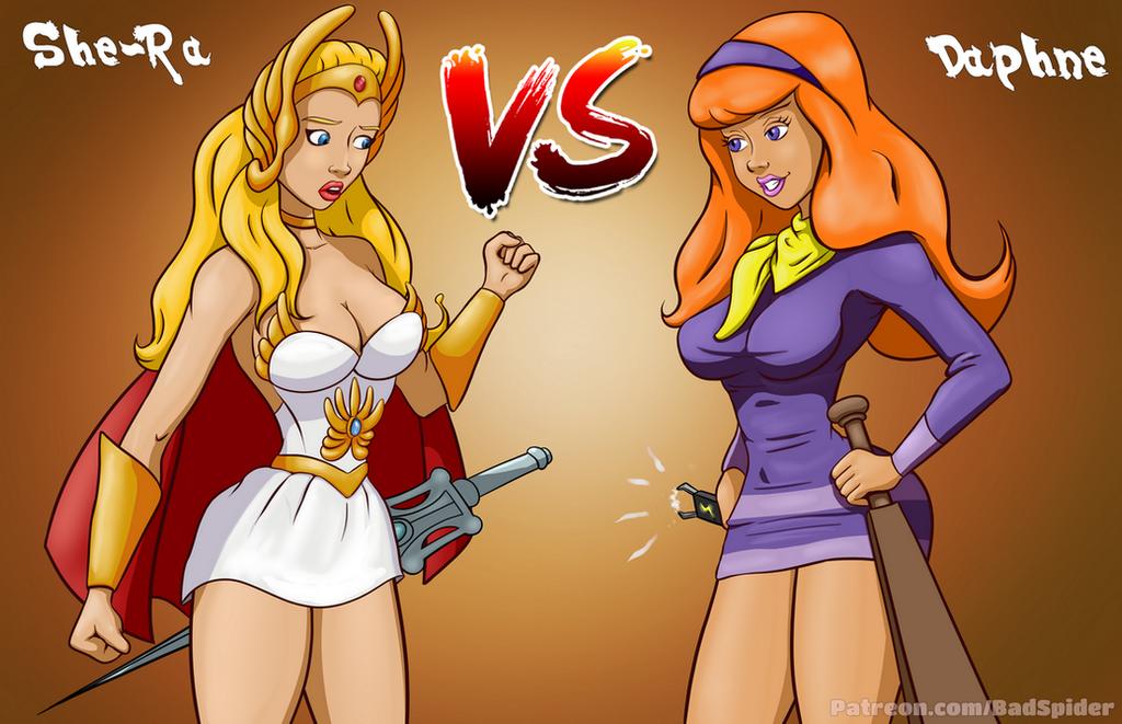 Battle1 - She-Ra vs Dapne  -prefight by BadSpiderArt
