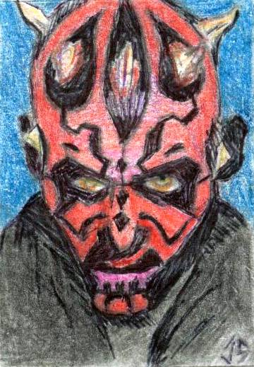 PSC: Maul - Color Pencil by JasonShoemaker