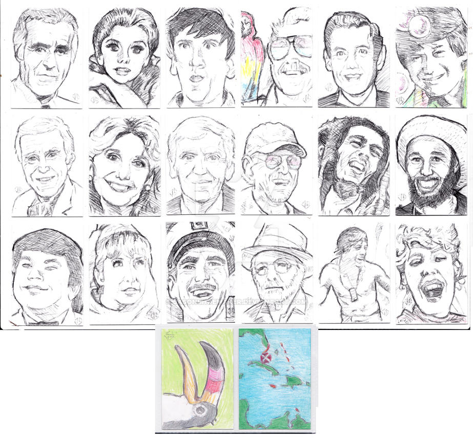 Island Dreams 2018 Sketchcards by JasonShoemaker