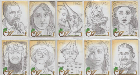 Rusty Ink's Oz: The Early Years Sketch Cards