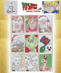 2020  Back To Retro 3 Holiday Edition Sketch Cards