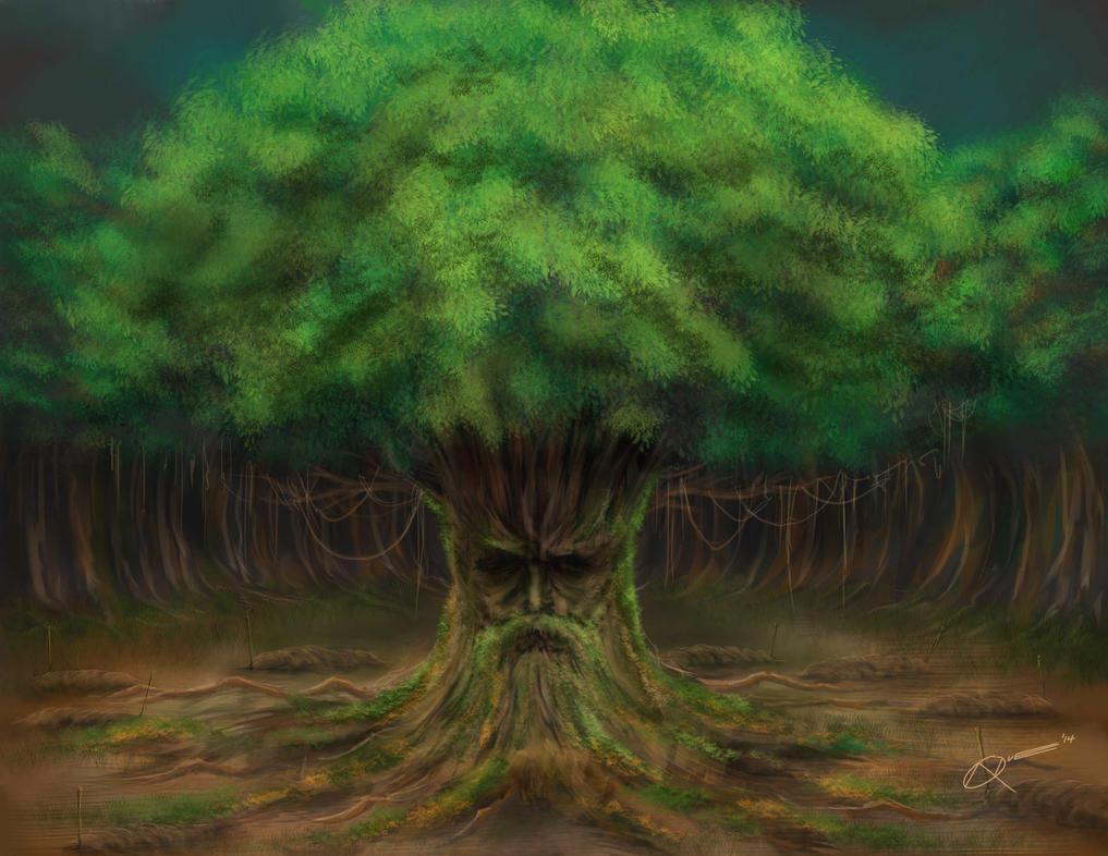 Speed Painting - Elder tree by DAA-TRUTH
