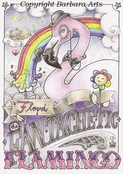 Floyd The Fan-tache-tic Flamingo 02 by Ejderha-Arts