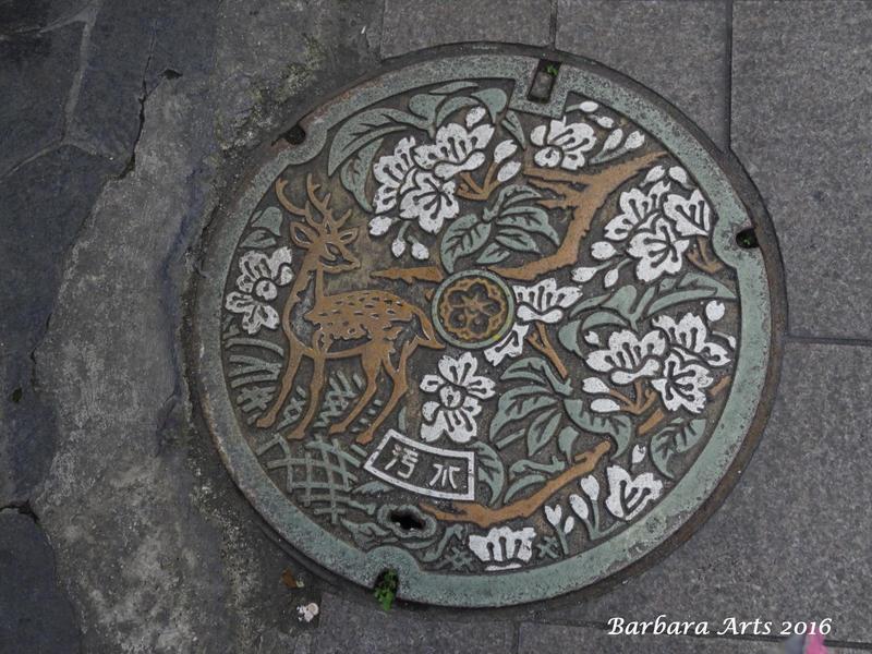 Nara City manhole cover by Ejderha-Arts