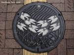 Himeji manhole cover