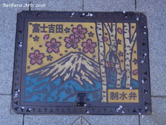 Fujiyoshida manhole cover by Ejderha-Arts