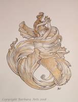 MerMay #5 - Goldfish by Ejderha-Arts