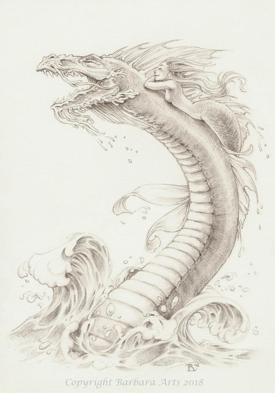 MerMay #10 - Dragon by Ejderha-Arts