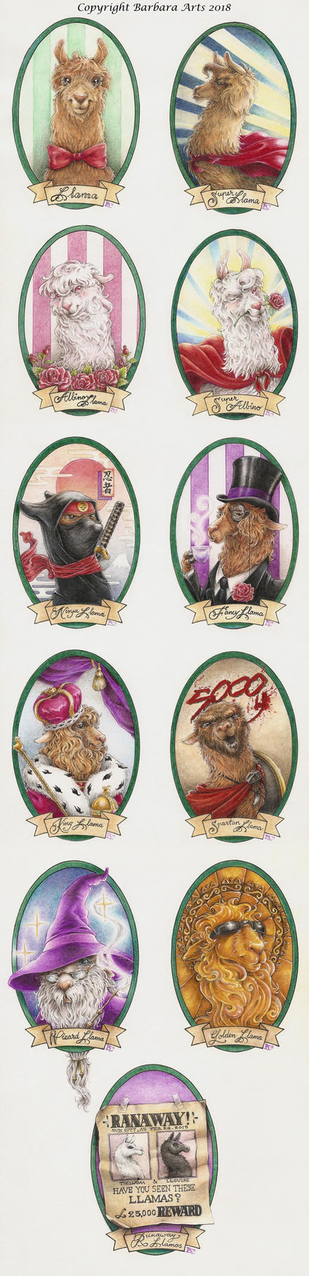 My Lovely Llama Gallery - Complete by Ejderha-Arts