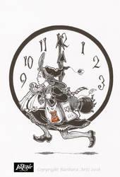 Inktober 2018 #14 - Clock by Ejderha-Arts