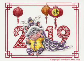 Happy Year of the Pig! by Ejderha-Arts