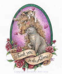 Lovely Lama Glama Gratitude by Ejderha-Arts