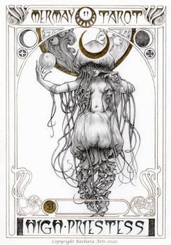 MerMay 2020 Tarot - 2. The High Priestess