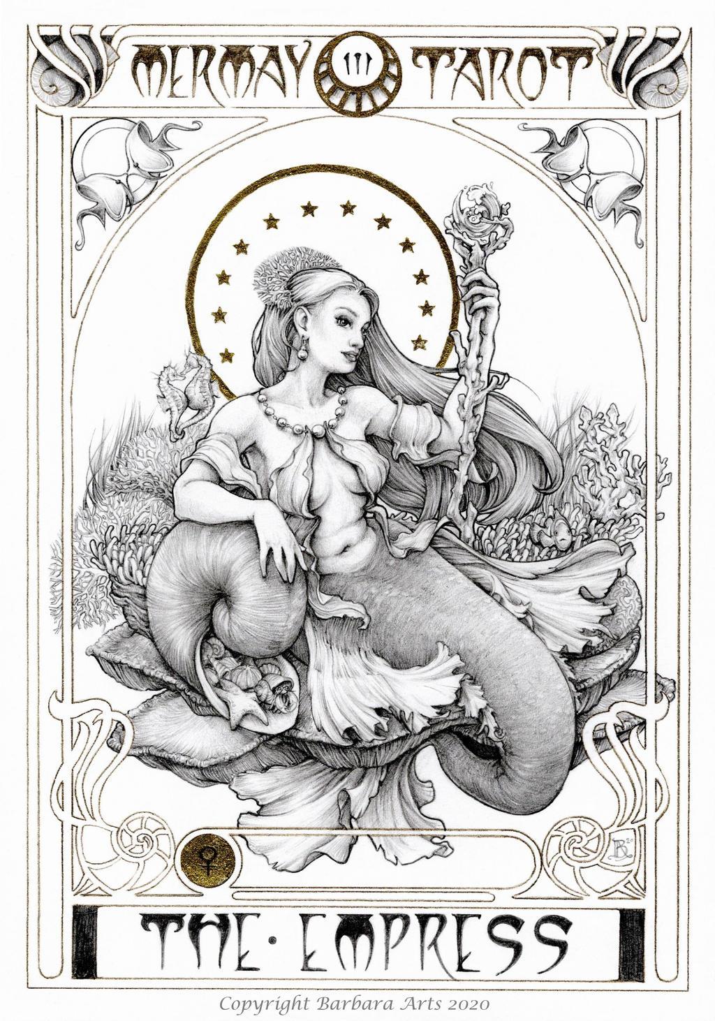 MerMay 2020 Tarot - 3. The Empress