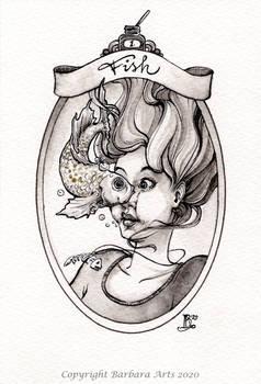 Inktober 2020 #1. Fish