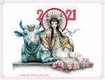 Lady Jinshu Niu - Year of the Metal Ox (colour) by Ejderha-Arts