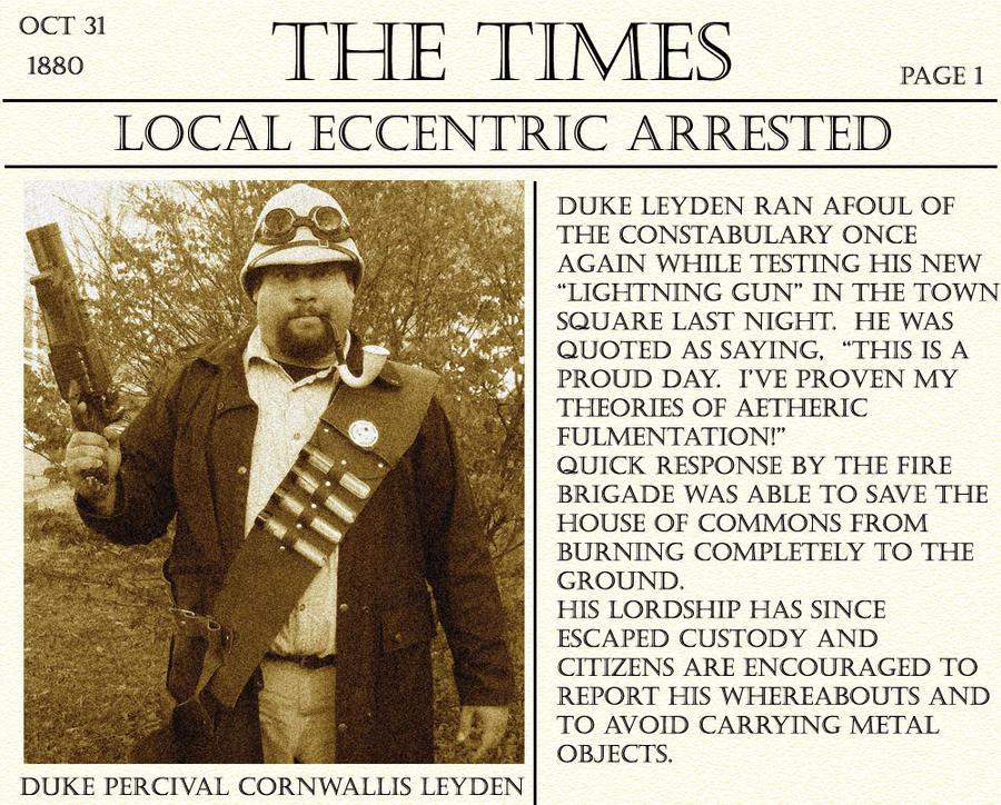 Newsflash Dateline London Oct 31 1880