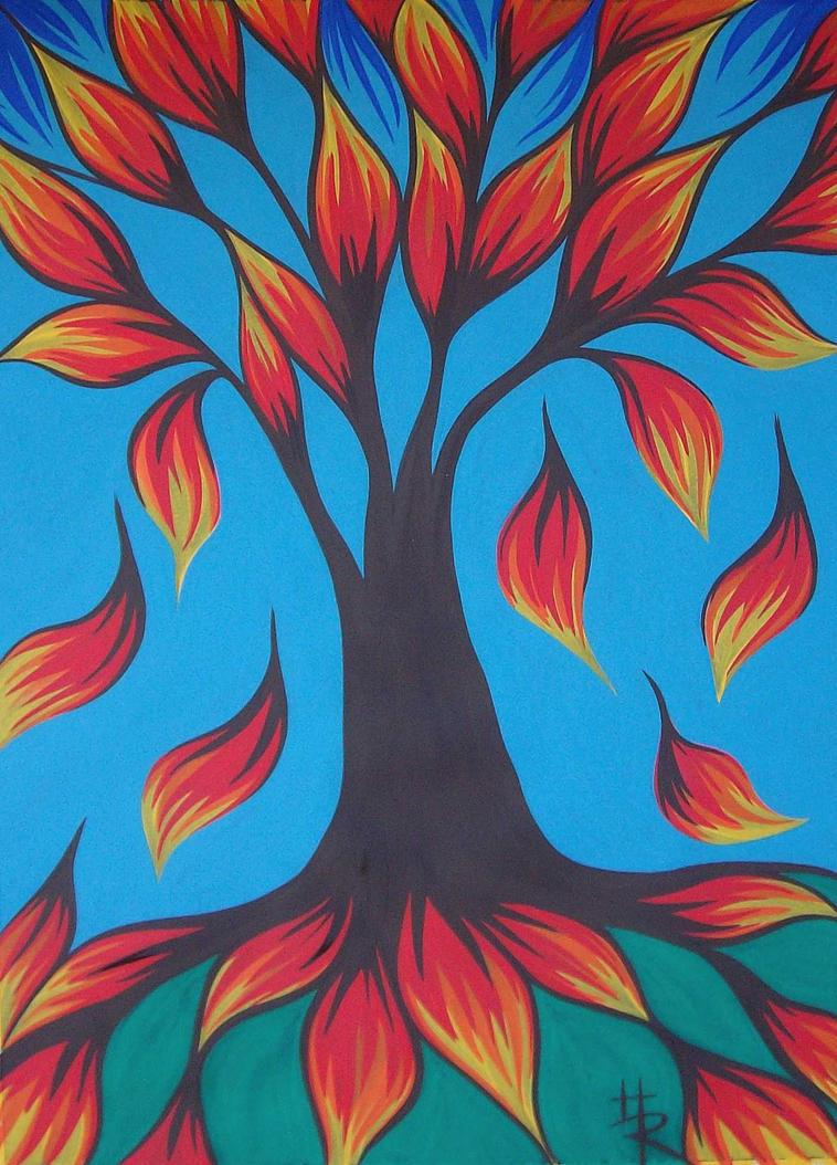 gouache autumn by essencestudios