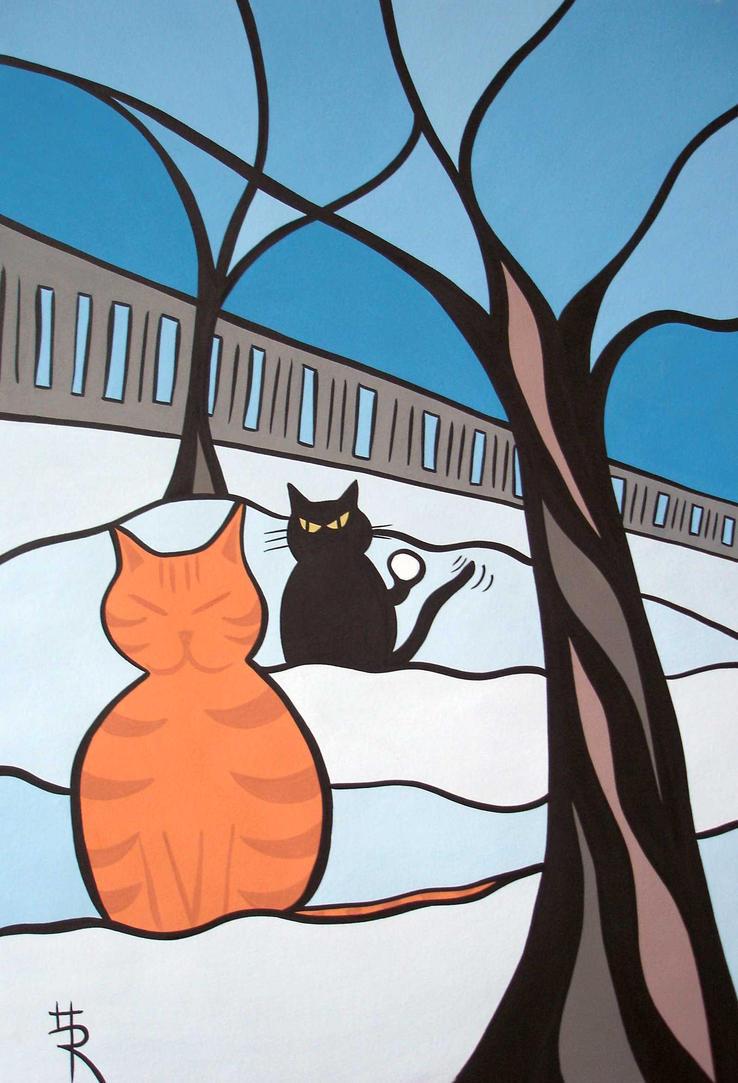 snow cats by essencestudios