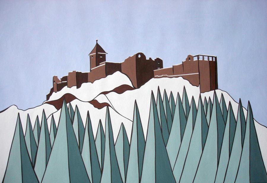 winter castle by essencestudios