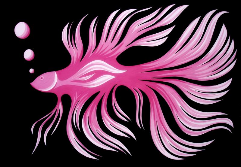 pink fish by essencestudios