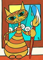 painter kitty by essencestudios