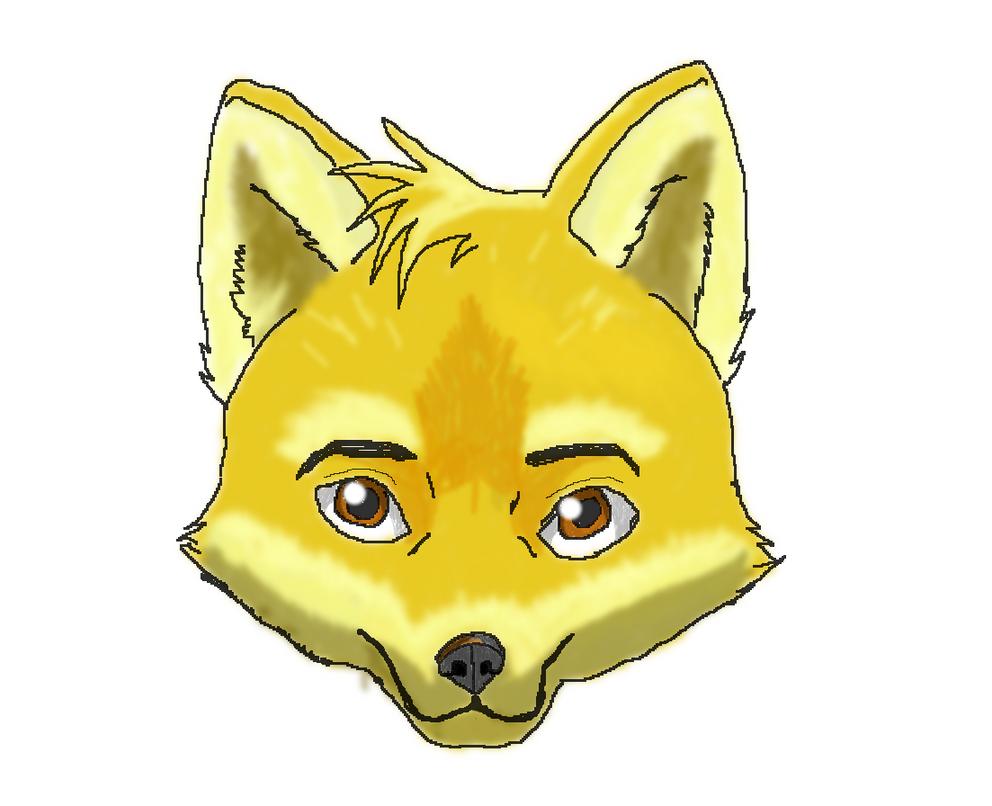 Simple Fox Drawing Fox Face Drawing