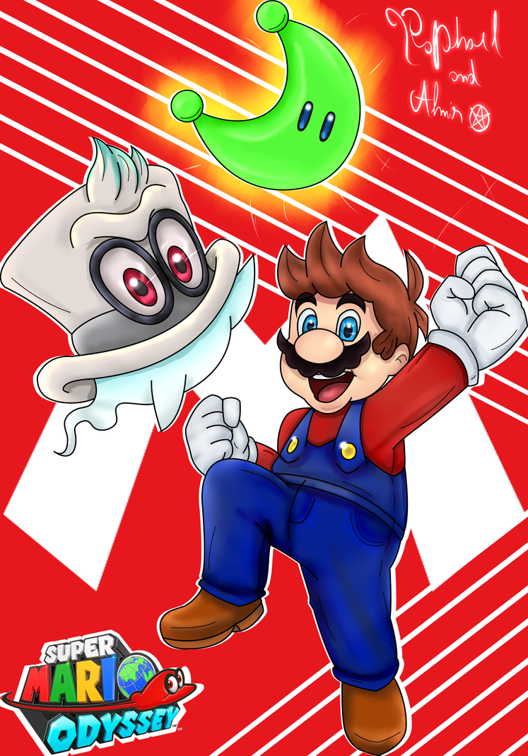 Super mario odyssey by almirlima on deviantart for Super mario odyssey paintings