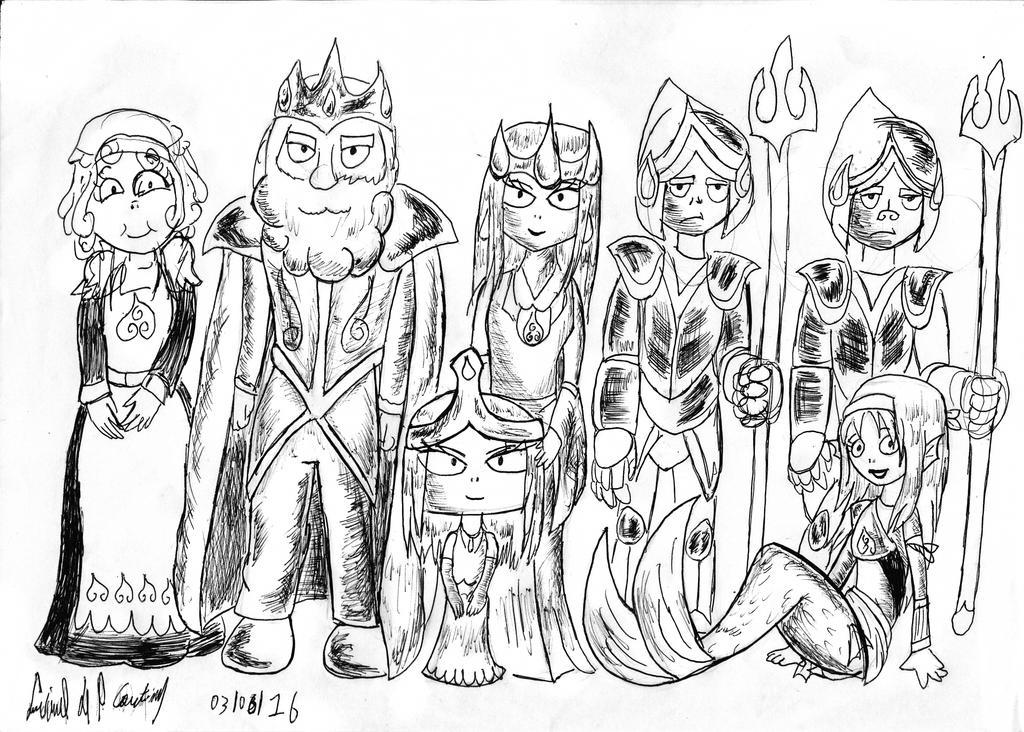 Aquaria Royal Family by luciano6254