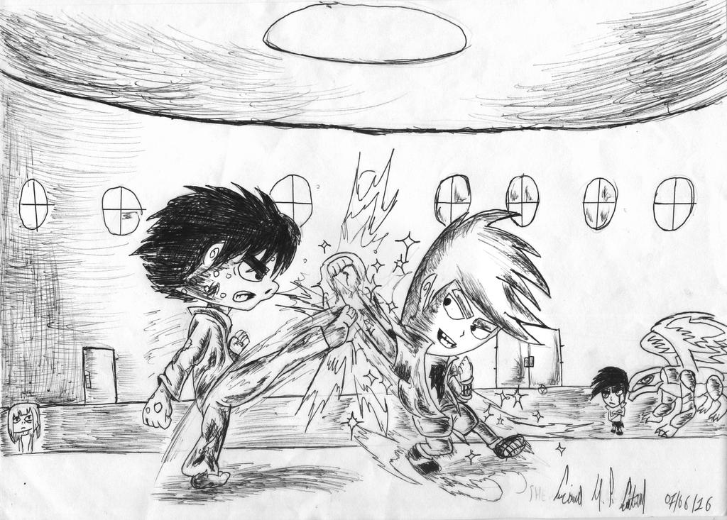Shen VS. Luciano (Training Time) by luciano6254