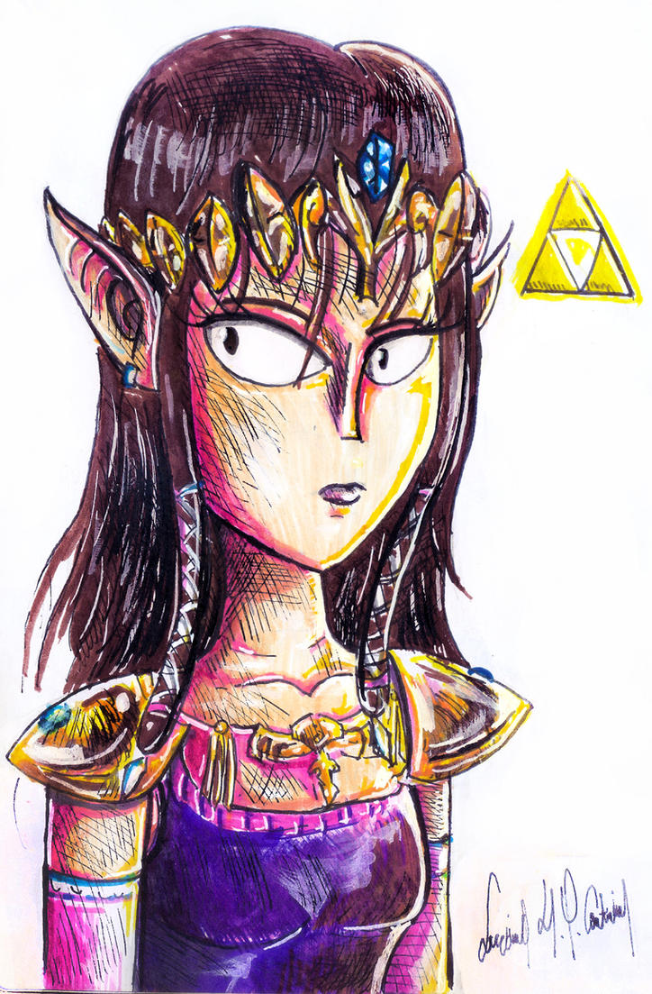 Inktober #2 - Princess Zelda by luciano6254