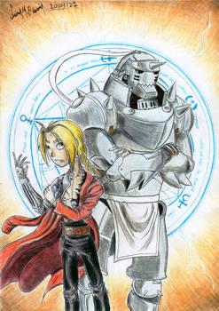 Elric Brothers (Fullmetal Alchemist) - Fanart