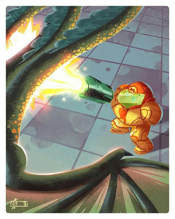 The Legend of Metroid Bros 02 by Andry-Shango