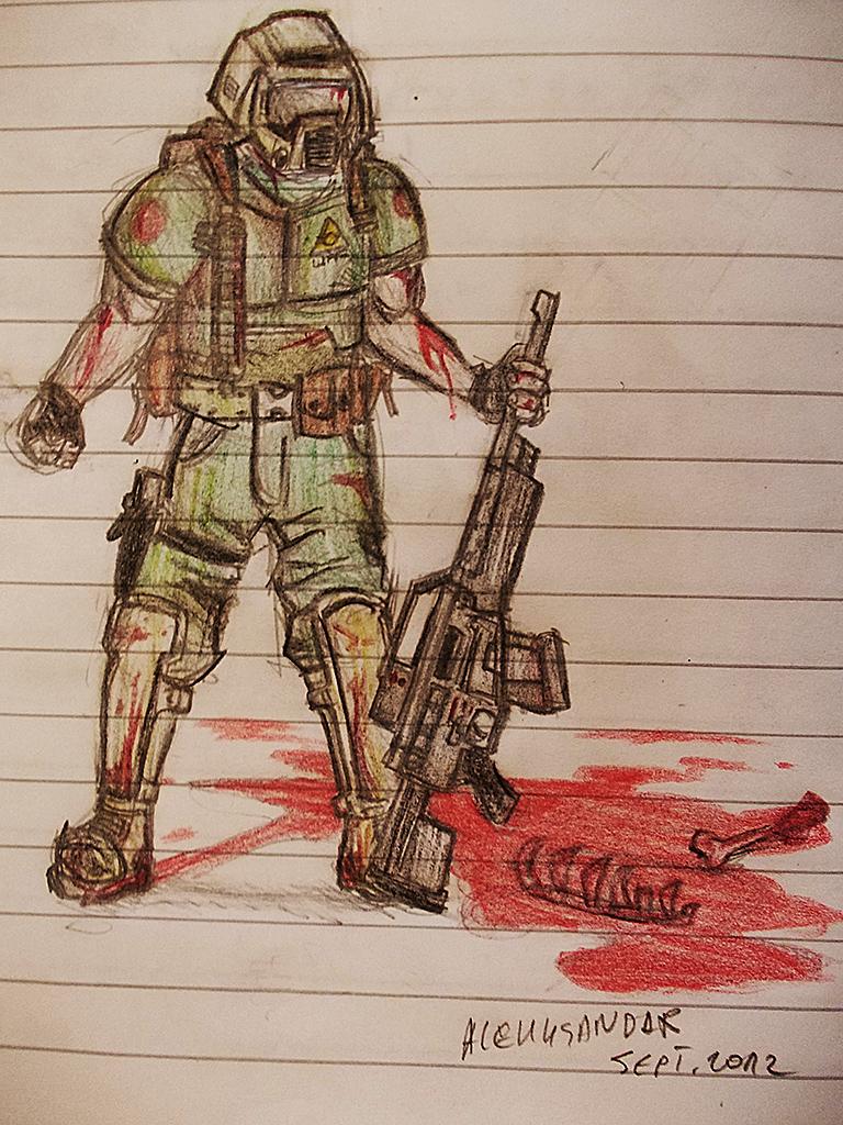 Doom Marine by alekksandar