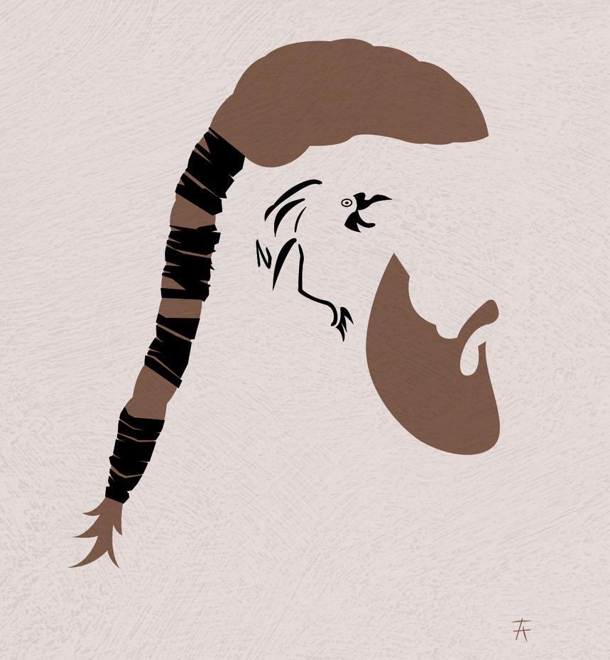 Ragnar lothbrok vikings minimalist by tijanaadamov on for Ragnar head tattoo stencil