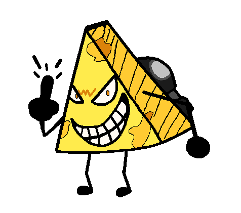 EVIL CHEESE GRATER IS EVIL - drawing by LoganKK10