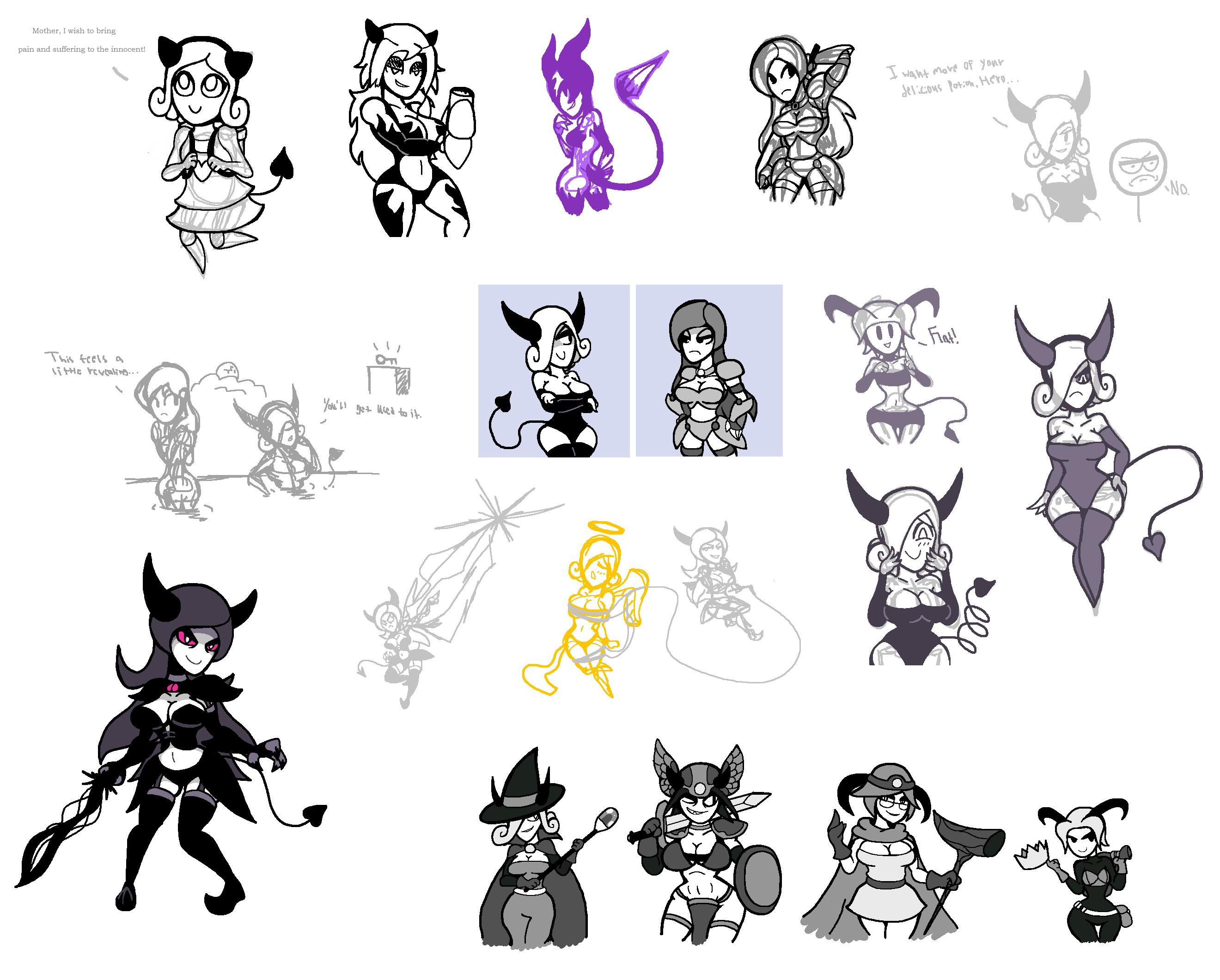 Demonic doodles 2 by Noland005