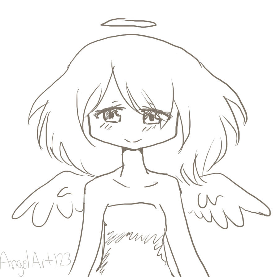angel sketch by angelart123 on deviantart