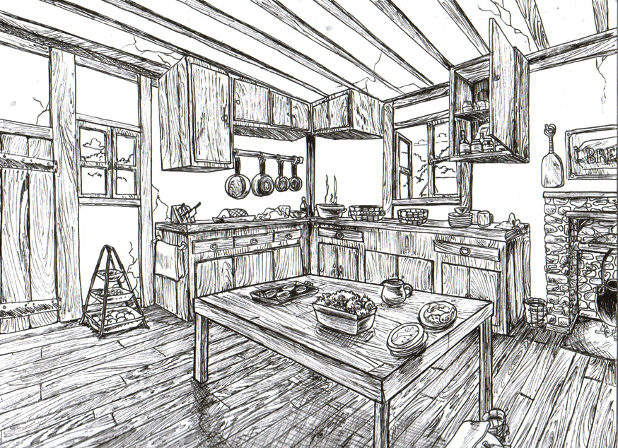 Kitchen Outline by DJDent on DeviantArt