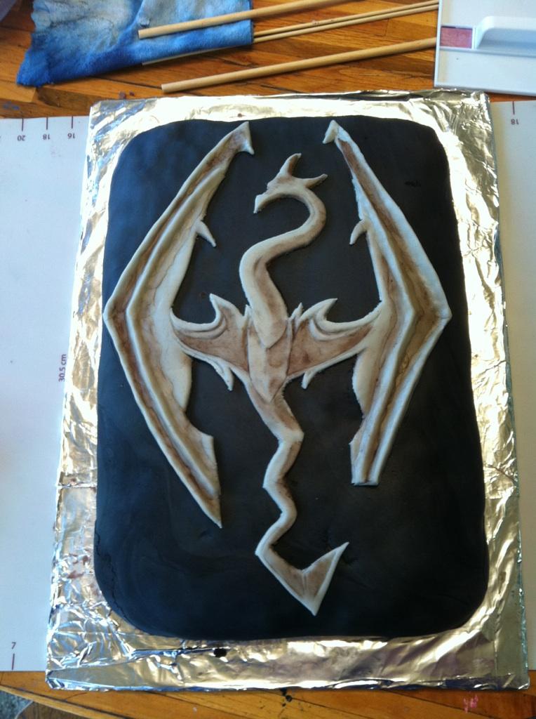 Skyrim Cake by DJDent