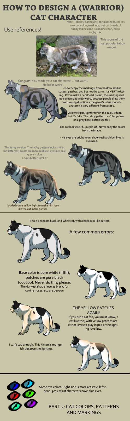 How to design cats by Mossasaurus on DeviantArt