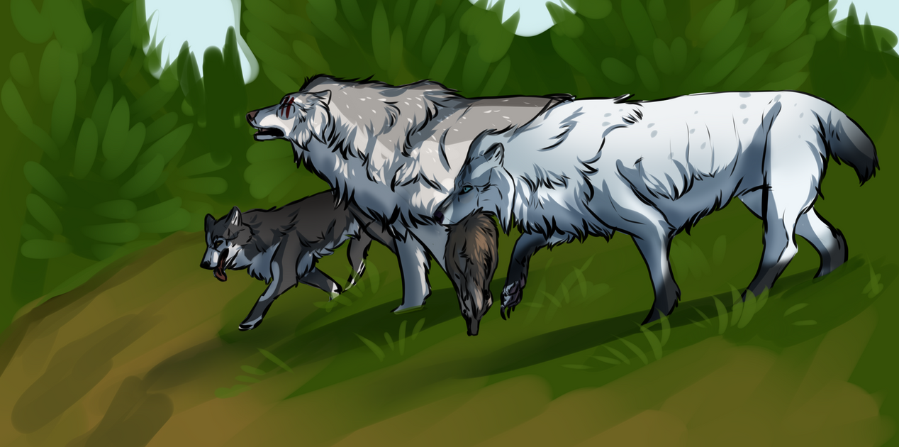 Coyote hunting by Mossasaurus on DeviantArt