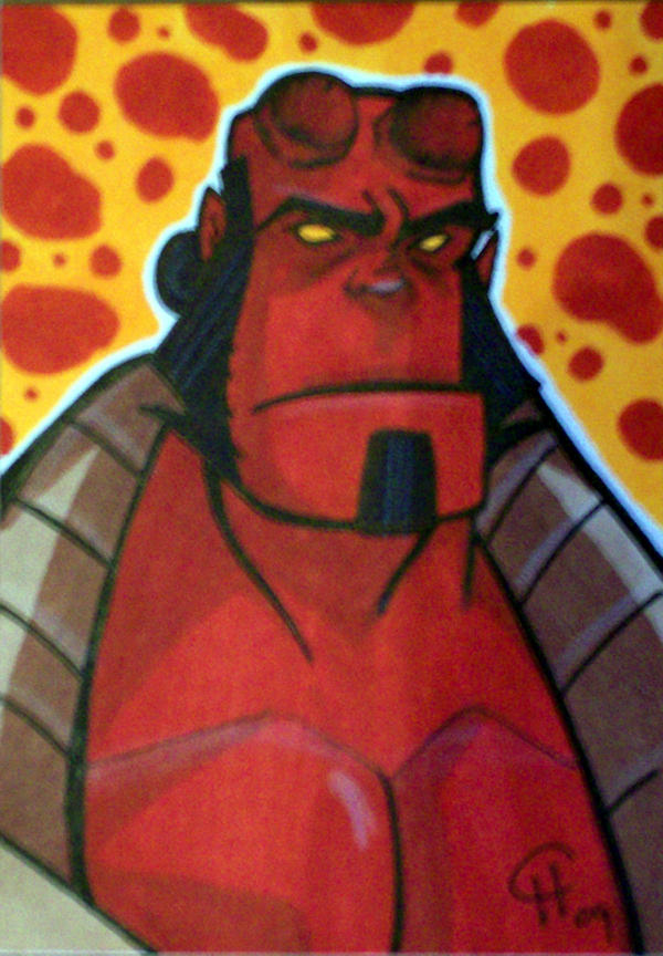 Hellboy sketch card