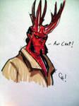 Hellboy the Red Reindeer....